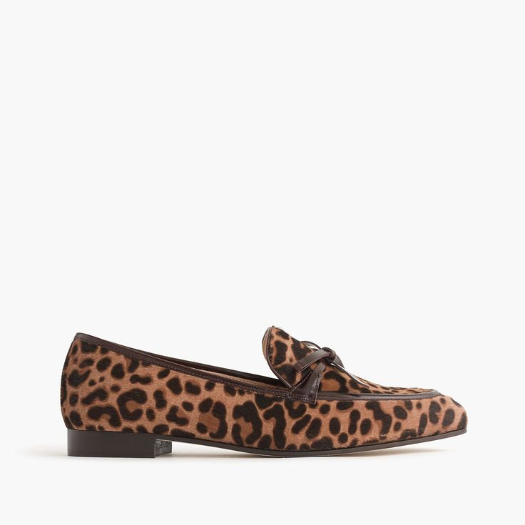 Academy loafers in calf hair. Women's LoafersOxfordsClassic LeatherPreppingStyle  IdeasLeopard CoatShoes Flats ...