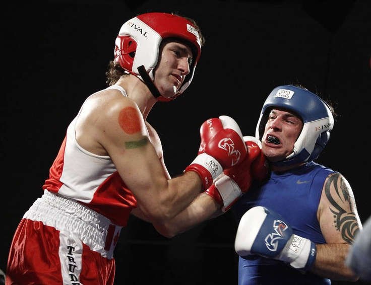 Underdog Justin Trudeau comes out victorious in boxing match against Tory senator Patrick Brazeau: Photo gallery