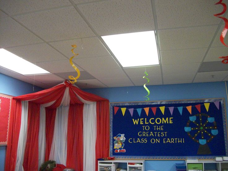 Circus Theme decor' like the tent. Can make it with dollar store table cloths