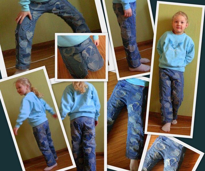 alteración de los pantalones vaqueros de los hombres - en los niños