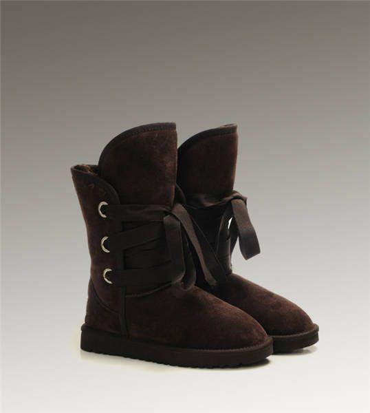 UGG Short Roxy 5828 Chocolate Boots http://www.salesnowboots.com/