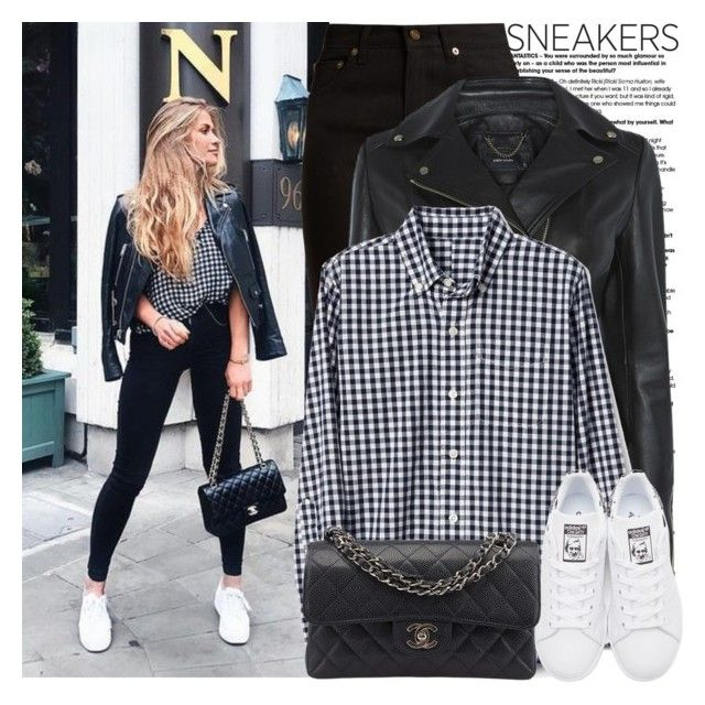 """""""So Fresh: White Sneakers"""" by martinabb ❤ liked on Polyvore featuring Yves Saint Laurent, adidas Originals and Chanel"""