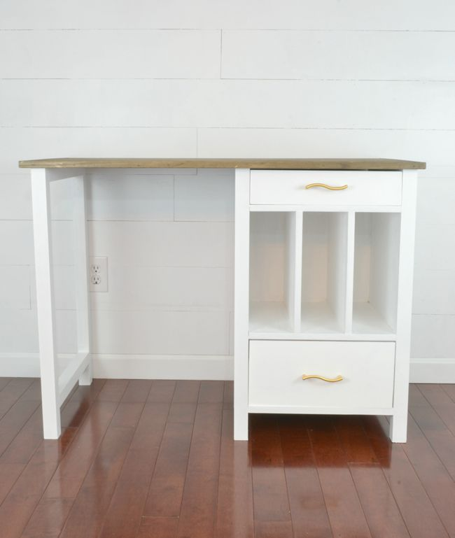 Ana White | Build a File Cubby Base Desk with Drawers | Free and Easy DIY Project and Furniture Plans