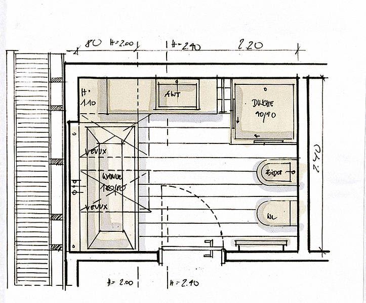 43 best images about salle de bain on pinterest toilets for Amenagement cuisine mansardee