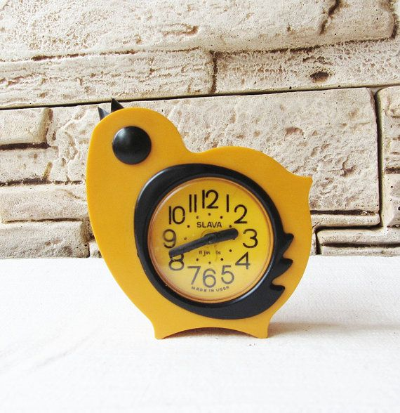 vintage russian alarm clock slava chicken retro alarm clock working clock vintage mechanical