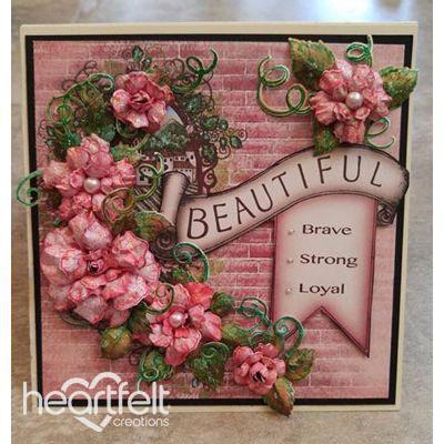 Gallery | Beautiful Banner Pink Rose Card - Heartfelt Creations