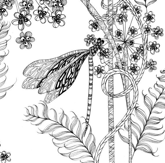 Printable Coloring Pages Of A Flower By TheTangledPeacock On Etsy