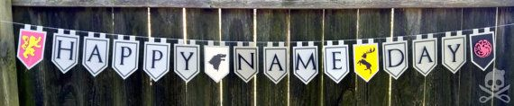 Game of Thrones Inspired Happy Name Day Banner by AmysOccasions