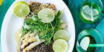Zalm in een korstje met geroosterde asperges | Simply you