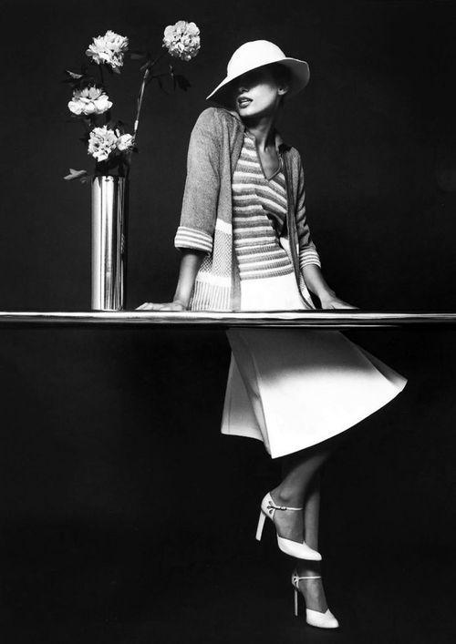 Model: Yvonne Goederman. Photo: Bruno Benini, 1974.