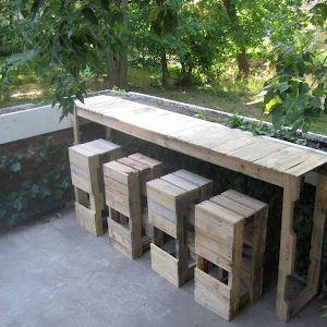 How To Make Pallet Bar Stools Pallets Stools And Bar