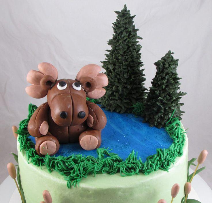 Moose Birthday Cake