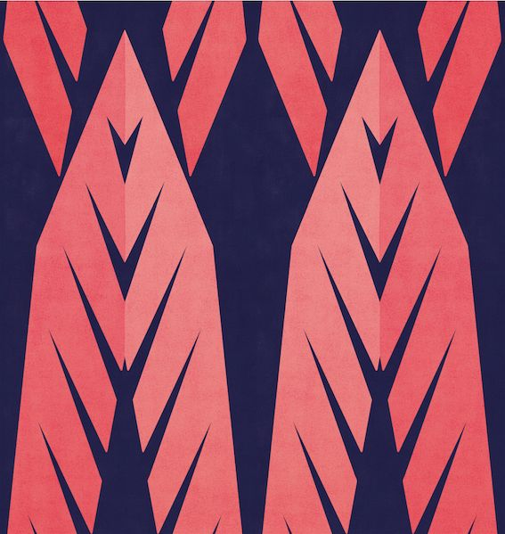 #rumruk #wallpaper #indianautumn #repeat #navy #blue #pink #vintage