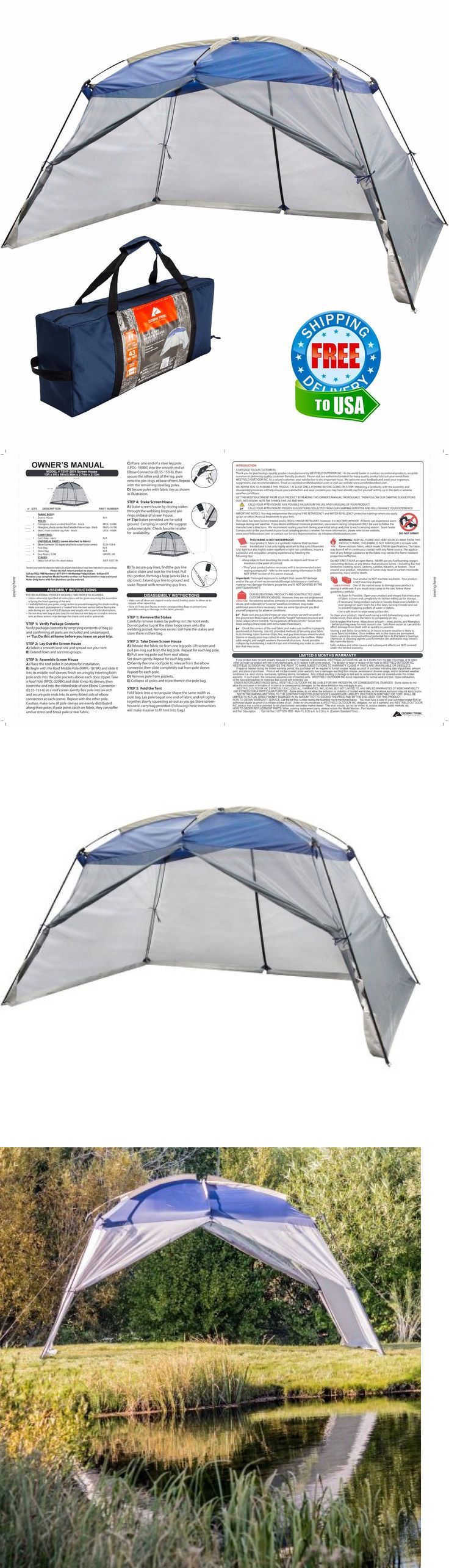 Canopies and Shelters 179011: Screen House Ozark Outdoor Canopy Shade Beach Gazebo Instant Pop Up Camping Tent -> BUY IT NOW ONLY: $63.21 on eBay!
