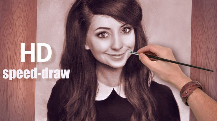 Zoella AMAZING speed drawing/painting How To Draw Tanya