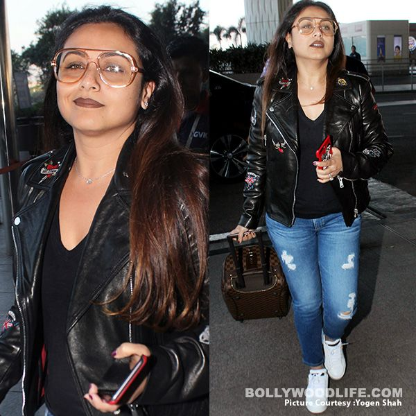 Rs 1.30 Lakh! Will you pay this exorbitant amount for Rani Mukerji's leather jacket? #FansnStars