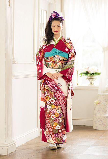 NO.020 正絹 手絞り刺繍|成人式の振袖販売、振袖レンタルの京都きもの友禅