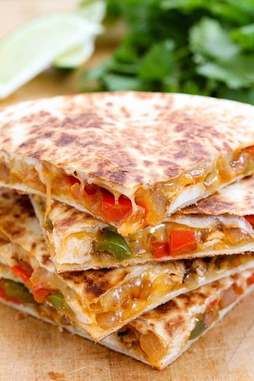 Easy Chicken Fajita Quesadillas Recipe Chicken quesadillas are delicious and easy dinner. They make for a great party finger food. We will need a red and green bell pepper for that classic color, a red onion, and scallions for the snappy taste. The tortillas you can go with corn tortillas or use masa tortillas. We … Continue reading »