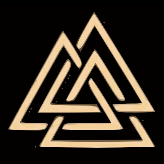 The Valknut Runic Symbol. The Valknut was a runic symbol found in many of the Norse rune carved standing stones throughout Scandinavia. A Valknut is a warriors symbol, it shows total dedication to Odin All-father and dedicates all those slain by the bearer as a sacrifice to Odin so the all father may fill Valhalla with warriors before the Ragnarok.