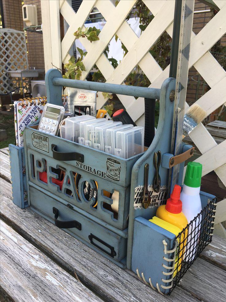 100均で作った工具箱です