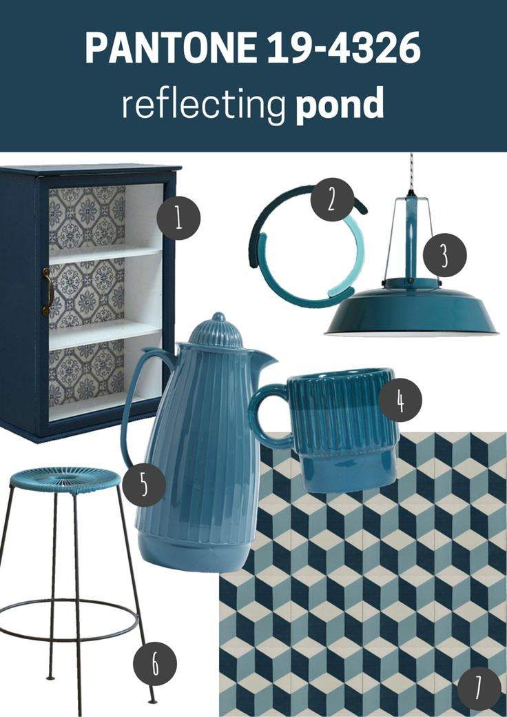 pantone 19-4326 reflecting pond   kuchnia / jadalnia // kitchen / dining room