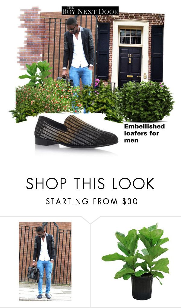 """Embellished Shoes for men"" by thelydialondon ❤ liked on Polyvore featuring Giuseppe Zanotti, men's fashion and menswear"