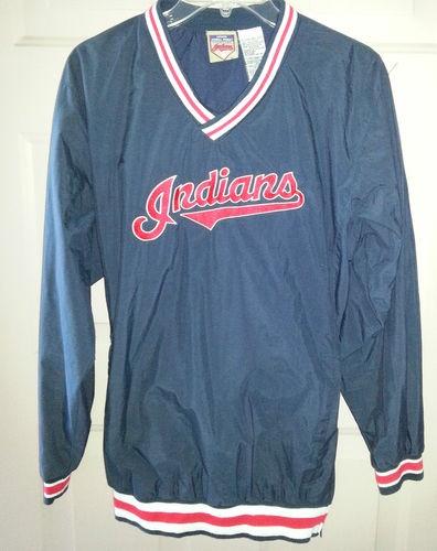 Cleveland Indians Jacket Windbreaker Authentic Cleveland Indians Baseball Gear Mens size XL