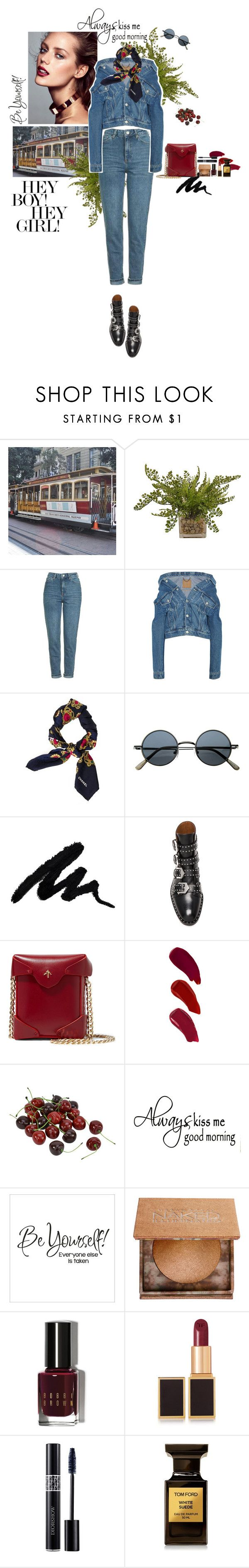"""""""sexy cherry"""" by wildmiu ❤ liked on Polyvore featuring The French Bee, Topshop, Balenciaga, Chanel, Givenchy, MANU Atelier, Ellis Faas, Urban Decay, Bobbi Brown Cosmetics and Tom Ford"""