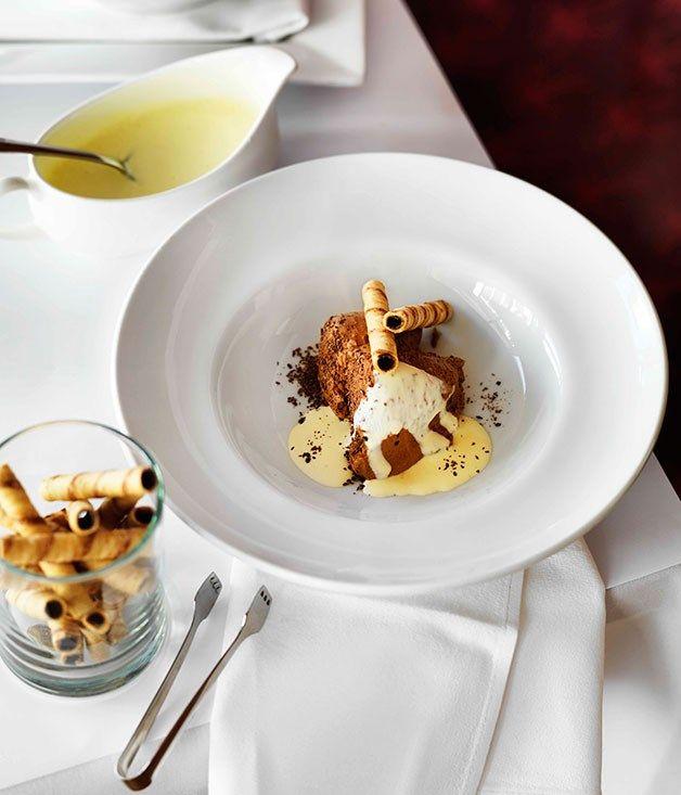 Australian Gourmet Traveller recipe for Ad Lib chocolate mousse