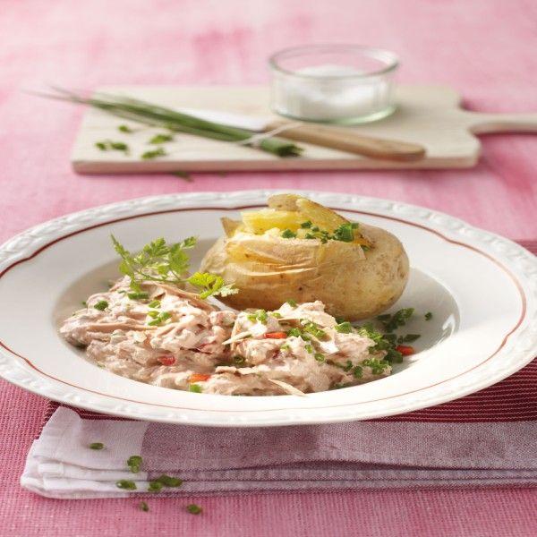 Aardappelen uit de oven met tonijnkwark Recept | Weight Watchers Nederland