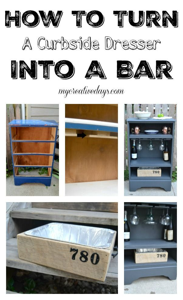 How To Turn A Curbside Dresser Into A Bar                                                                                                                                                                                 More