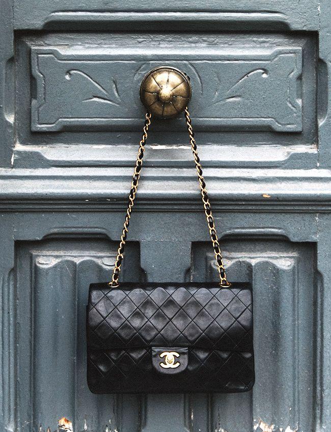 Wanted : un sac iconique (sac 2.55 Chanel - photo Collage Vintage)