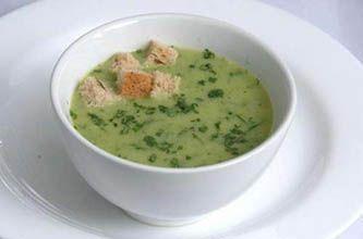 Caldo verde com espinafre