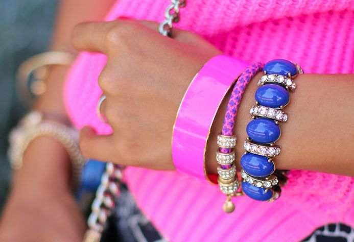 : Neon Parties, Arm Candy, Fashion Beautiful, Hotpink, Stacking Bracelets, Hot Pink, Girls Fashion, Neon Pink, Arm Parties