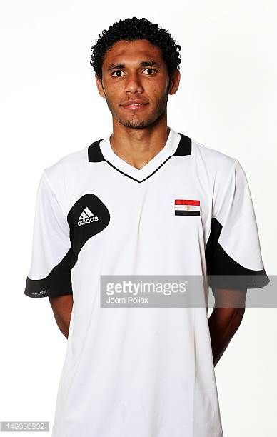 Mohamed El Neny of the Egypt Men's Olympic Football Team at the Hilton Hotel on July 22 2012 in Cardiff Wales