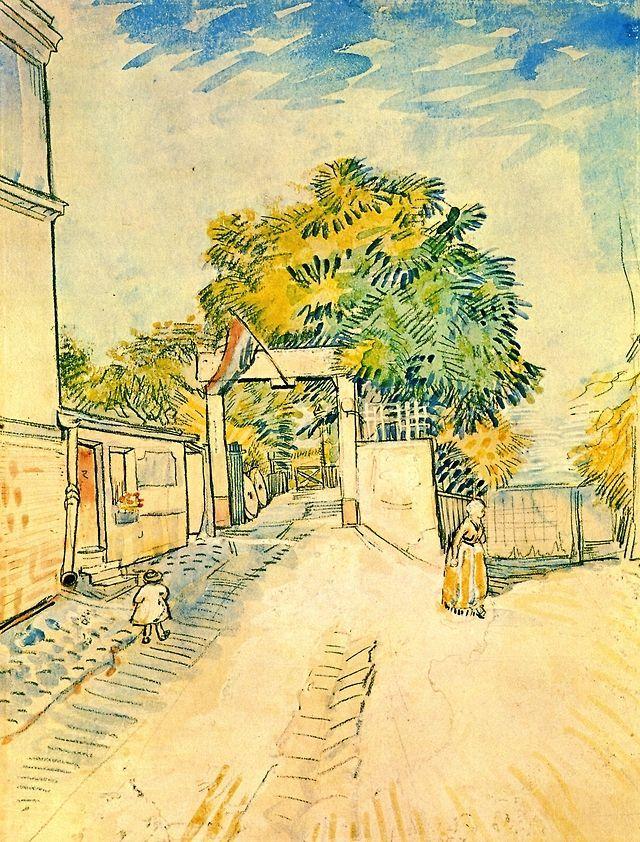 Entrance To The Moulin De La Galette 1887 Vincent Van Gogh
