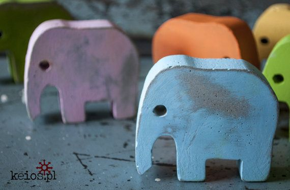 Candylike concrete elephants. Worn out to keep their dignity ;) by keiospl COLORS! :)