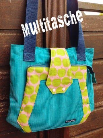 Multitasche by handmade by haupine, pattern by farbenmix.de, Taschenspieler-2-CD #farbenmix #sewing #nähen #taschen