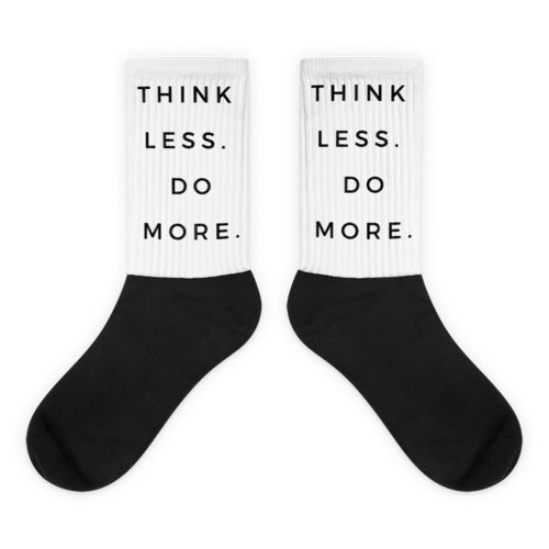 White TLDM Black foot socks