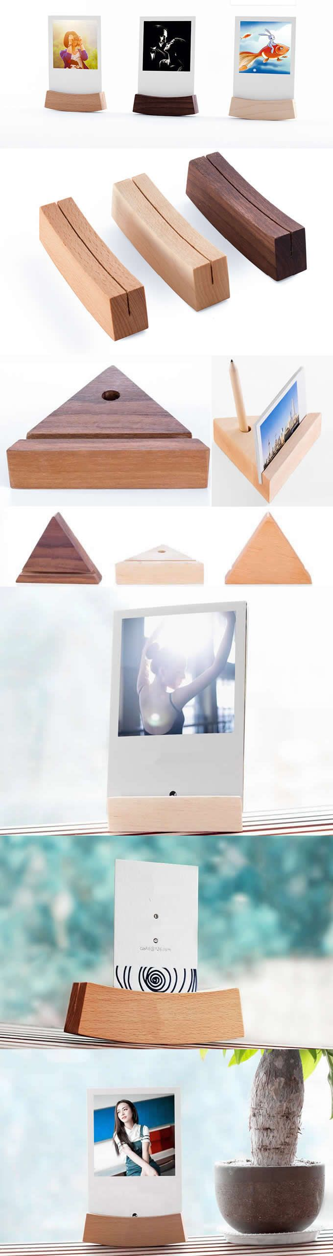 Wooden Wedding Place Card Holders Or Photo Card Holders Business Card Stand Holder Office Desk Organizer