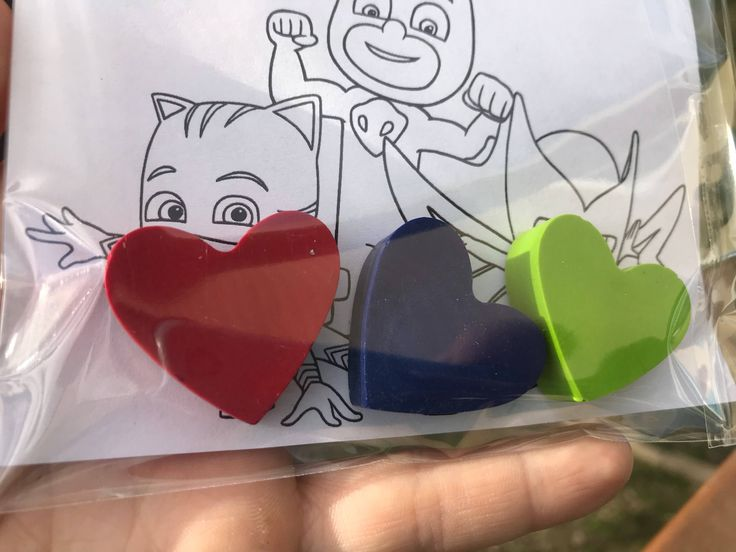 PJ Masks Valentine Cards // Classroom Valentine // Kids Valentine Ideas // Valentine Card // Valentine Crayons // Non Candy Valentine by PastelloRosso on Etsy