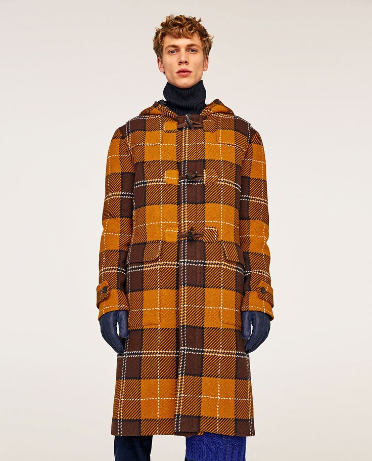 Bilde 1 fra LANG RUTET DUFFELCOAT fra Zara