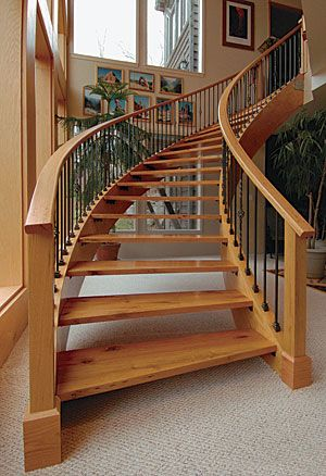 Laminating curved stair stringers