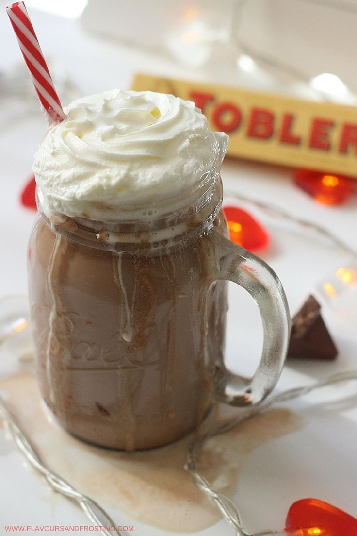 This 2 Minute Toblerone Hot Chocolate recipe is so gooooood!