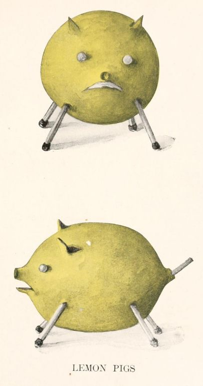 Lemon Pigs  Lady Hollyhock and Her Friends, 1917: Lemon Pigs, Friends, Pigs Roasted, Posts, Pigs Lady, Lady Hollyhocks