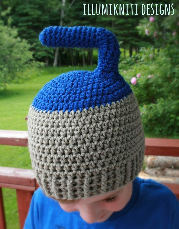 Instant Download Curling Rock Hat Crochet by illumiknitiDesign, $3.99