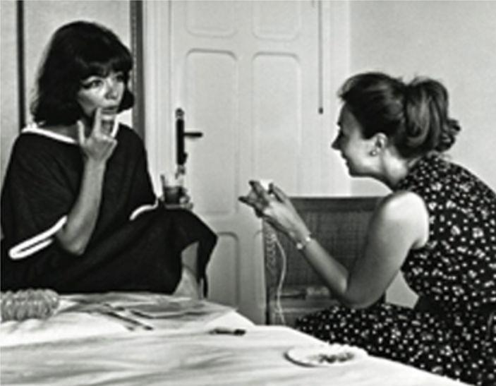 Oriana con Juliette Greco nel 1963 - Foto - Oriana Fallaci