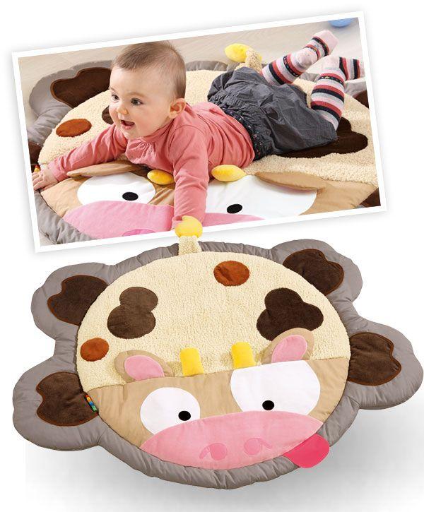 Grand tapis d'éveil pour bébé la Vache - Wesco
