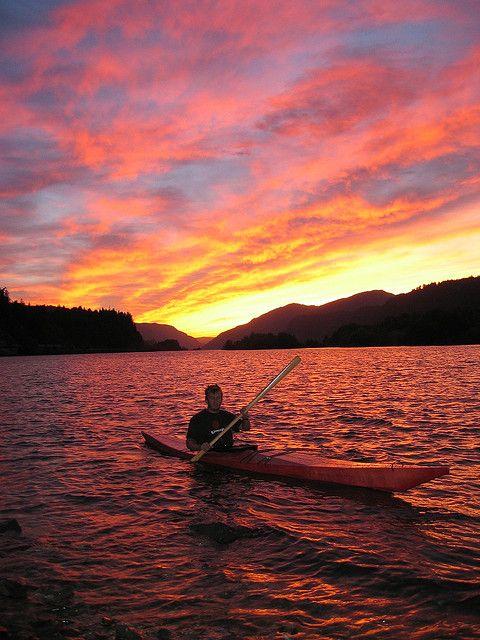 Kayak sunset #kayak #kayaking #sunset