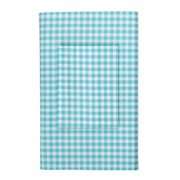 Company kids by the company store gingham turquoise 200